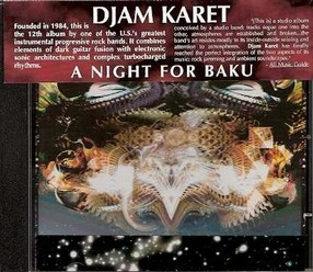 Djam Karet/A night for baku, CD