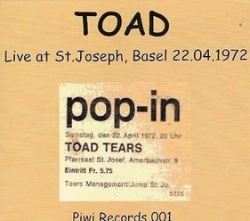 Toad/Live at St. Joseph, CD